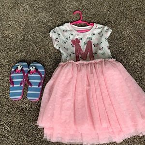Minnie Mouse dress and sandals